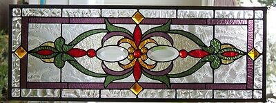 """Stained Glass window hanging 32 X 12"""""""