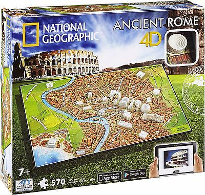 ANCIENT ROME Puzzle (+free App) 600+pcs.National Geographic OVP 4D Cityscape