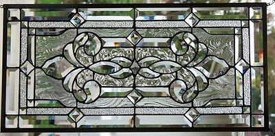 """Stained Glass window hanging 28 X 13 3/4"""""""