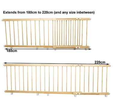 NEW Sunbury - Wooden Barrier - Jumbo 180cm - 220cm from Baby Barn Discounts