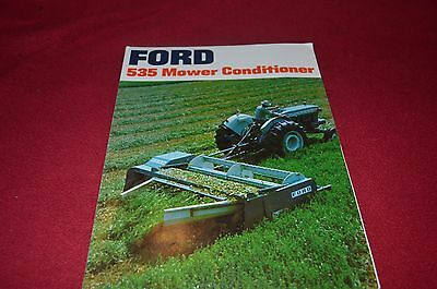 Ford Tractor 535 Mower Conditioner Haybine Dealer's Brochure YABE9