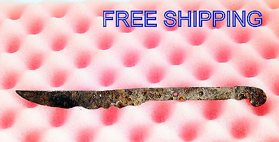 ANCIENT Medieval KNIFE BLADE ROMAN ARTIFACT - 7'' long -  Metal detector Found 4
