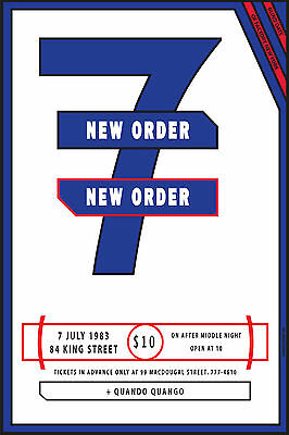 New Order @ The Paradise Garage NYC Poster 1983 Full-Sized Perfect Reprint 24x36