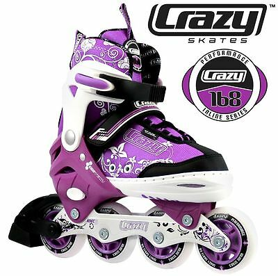 Crazy Girls Adjustable Rollerblades 4 sizes in 1 Inline Skates  - HIGH QUALITY!