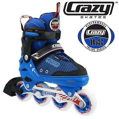 Crazy Boys Adjustable Rollerblades 4 sizes in 1 Inline Skates  - HIGH QUALITY!