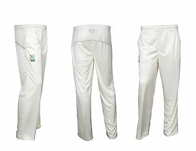 Men's Cricket Trousers Match Playing Kit Pants Bottoms Premium Quality Off White