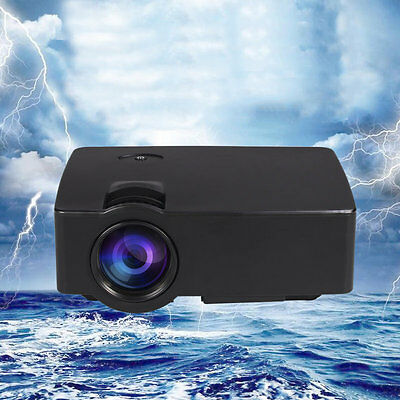 LED HD Technology Projector LCD Support AV/USB/HDMI/TF/AUDIO Home Theater AU
