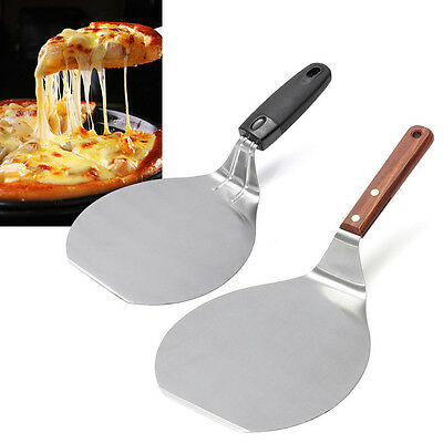 Pizza Spatula Peel Stainless Steel Shovel Cake Holder Tray Plate Shifter Baking