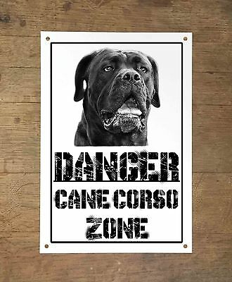Danger CANE CORSO zone Targa cartello metallo attenti al cane metal sign