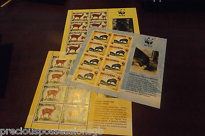 Philippines Mnh Group Of 3 Stamp Sheets. 1997 Wwf Mint World Wildlife Fund