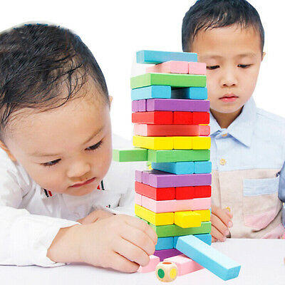 Rainbow Beech Wood Layers of Pumping Kids Building Blocks Baby Activity Toy Gift