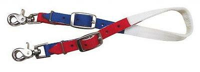 Showman RED, WHITE & BLUE Nylon Wither Strap Scissor Snap Ends! HORSE TACK!