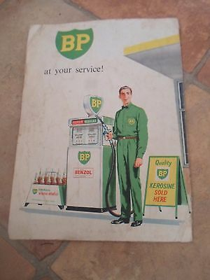 Rare Vintage BP Advertising Road Map SOUTH AUSTRALIA+NORTHERN TERRITORY