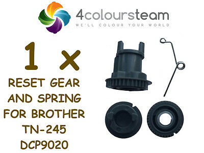 1x RESET GEAR AND SPRING FOR BROTHER TN-245 245 DCP 9020 HIGH YIELD (2,2C-C,M,Y)