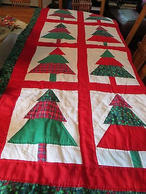 Christmas Tree Quilt / Tapestry with Hand Stitching