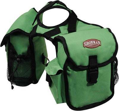 Showman LIME Cordura Nylon Western Saddle Insulated Horn Bags! New Horse Tack!