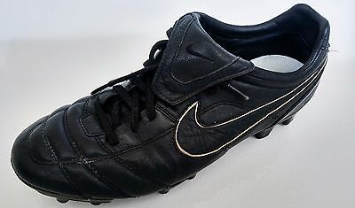 Nike Tiempo Legend II FG Soccer Cleats Boots Leather US SZ 9.5 Blacked out