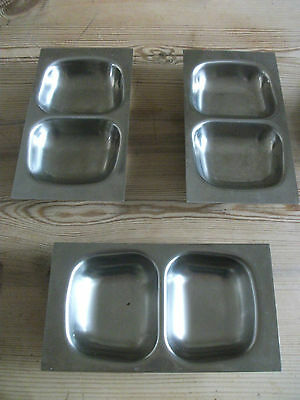 Vintage Old Hall Stainless Steel Serving Dishes By R.welch  X 3