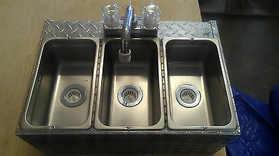 3 Compartment  Sink Ready To Install, Hot Dog Cart, Food Truck Or Trailer Nsf