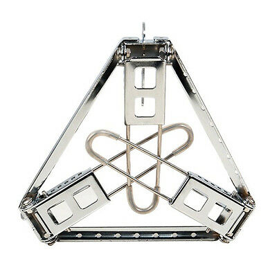 Cooking Camping Portable Folding Steel Triangle Bracket Pot Stove Stand Outdoor