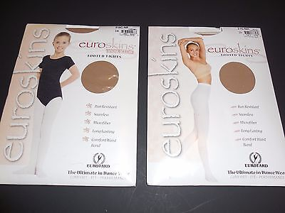 EUROTARD EUROSKINS 215 Footed Tights Caramel Child Ladies Dance Jazz Pageant