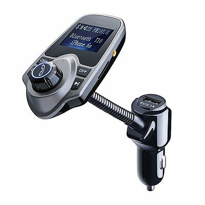 FM Transmitter, Primacc MP3 Player Bluetooth Radio Car Transmitter with Aux Port