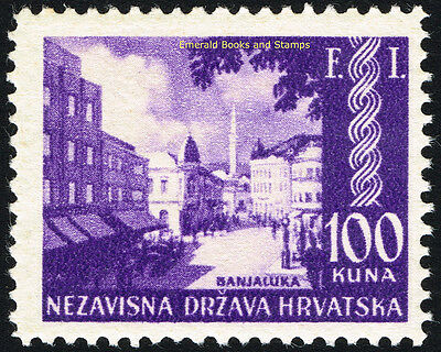 EBS Croatia Hrvatska NDH 1942 Philatelic Exhibition Banja Luka Michel 81 MH*