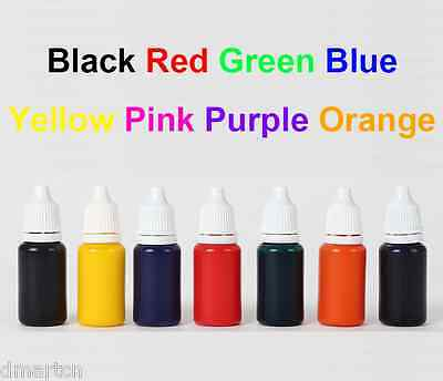 10ml refill ink for pre-inked self inking flash rubber stamp colors for choice