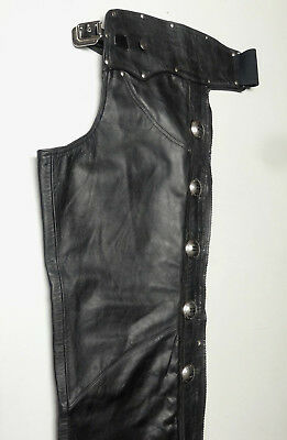 Harley Davidson *made In Usa* Leather Heritage Chaps Lined Mens Medium Med   204