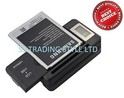 BATTERY DESKTOP CHARGER TRAVEL for SAMSUNG GALAXY S5 DOCK WALL USB LCD  UK