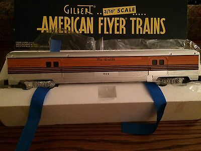 American Flyer by Lionel #49945 D & RGW Streamliner Baggage Car New in Box!