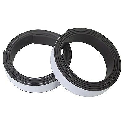 2PC SELF ADHESIVE MAGNETIC TAPE STICKY BACKED MAGNET STRIP EASY FIX 760mmX12.5mm