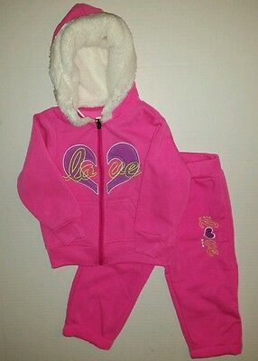 All About Me Girls LOVE 2-PC Outfit Fleece Hoodie & Pants Set Size 18 months