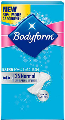 Bodyform Extra Protection Pantyliners - Normal (26)