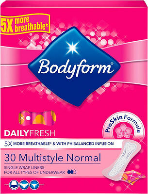 Bodyform Multistyle Normal Single Wrapped Liners (30)