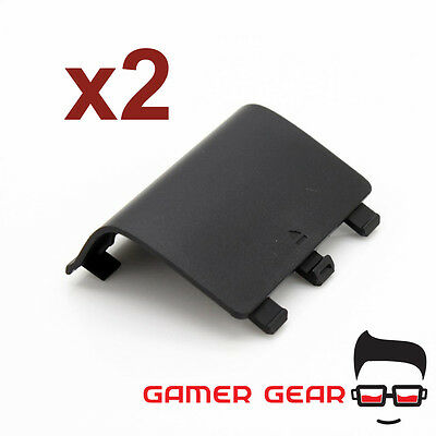 2 x XBOX One Wireless Controller Replacement Battery Cover Shell - Black