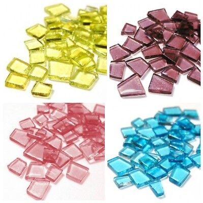 Transparant Glass Mosaic Tiles in Puzzle Pieces - 100g