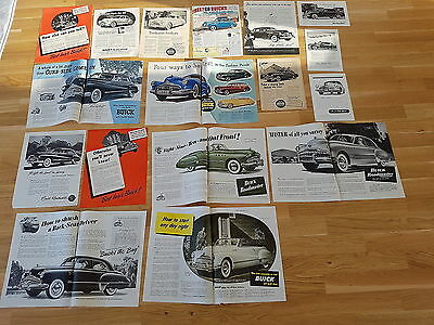 1940s Buick Ads / Lot of 16!