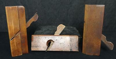 Lot (3) Antique Wood Block or Moulder Planes John Bell, Ohio Tool, & St. John's