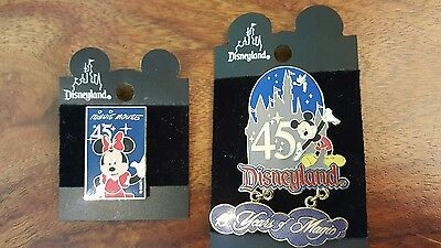 2 45 years anniversary Disneyland pin (Mickey and Minnie mouse)