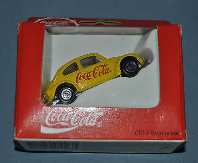 Coca Cola Coke VW Volkswagen Bug Beetle Yellow 1:64 Die Cast Car NIB New In Box
