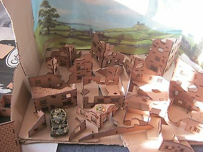 20mm Scale Ruins of Buildings house factories for wargamming scenery