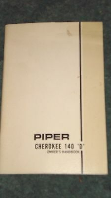 Piper Cherokee 140-D Owners Handbook Free Shipping!!