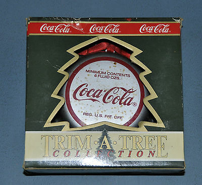 Coca Cola Coke Christmas 1991 Ornament Bottle Cap NIP New in Box