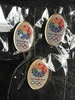 Set Of 3 Tokyo Olympic 2020 Candidate City Pin Badge Very Rare Olympic Job Lot