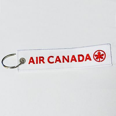 NEW AIR CANADA REMOVE BEFORE FLIGHT tag keychain keyring