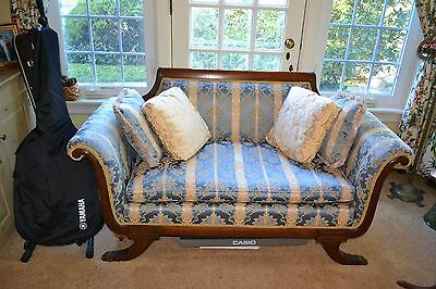 Antique Duncan Phyfe Loveseat Couch Sofa With Claw Feet