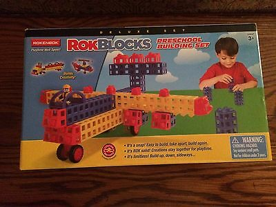 Rokenbok 04847 RokBlocks Preschool Building Set LARGE 102 piece set New in Box!