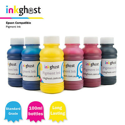 Inkghost Pigment Ink for use in Epson 81 & 82n R270 290 390 RX590 610 690 1410