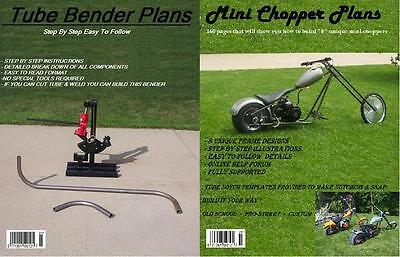 8 Mini Chopper Plans +Tube Bender Plans+Jig Plans Combo+ Retro Mini Bike Plans